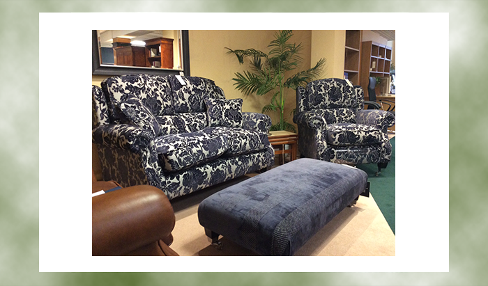 2 Seat Sofa, Chair and Footstool