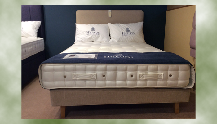 Double bed with shallow base and Emily headboard